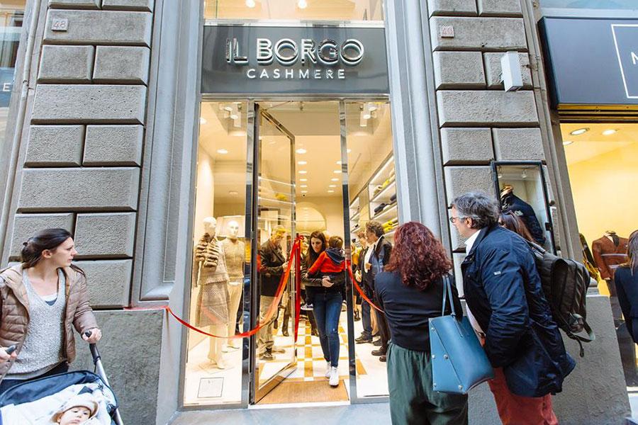 Il negozio de Il Borgo in via Tosinghi a Firenze
