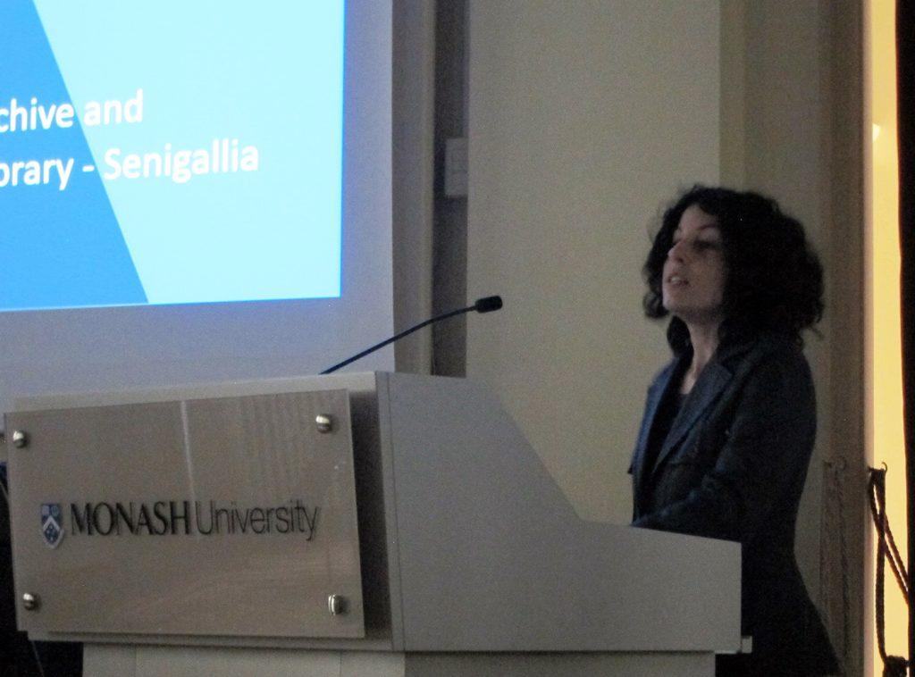 L'intervento al convegno della Monash University a Prato